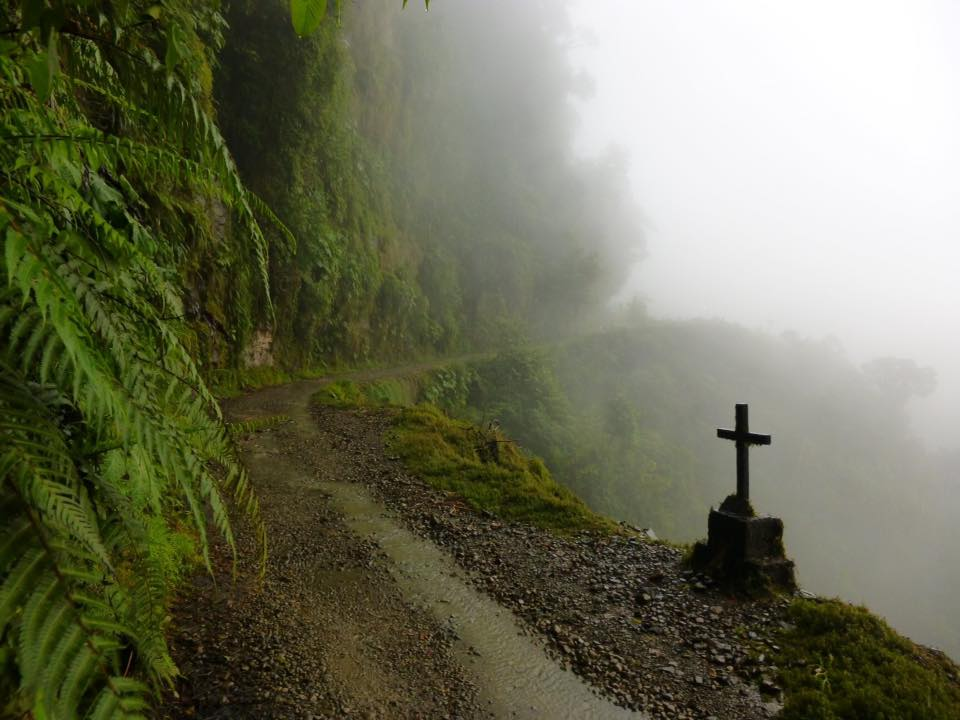 death road biking crosses