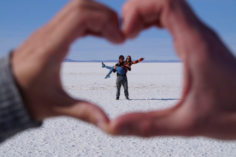 Uyuni Salt Flat Heart 2